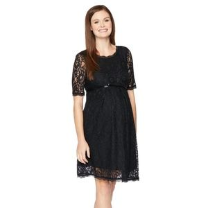 Motherhood Maternity Lace Fit n Flare Dress